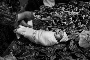 Baby eines Berbers in der Kabylei