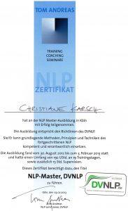 DVNLP Master Zertifikat, Christiane Karsch