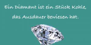 Diamant = Stück Kohle mit Ausdauer